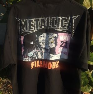 Vintage Metallica Fillmore St. Anger Concert Tee